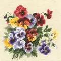 RIOLIS Pansy Medley Floral Cross Stitch Kit