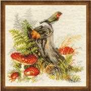 RIOLIS Stump with Fly Agaric Cross Stitch Kit