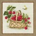 RIOLIS Basket with Raspberries Cross Stitch Kit