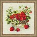 RIOLIS Garden Strawberry Cross Stitch Kit
