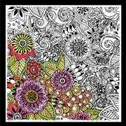 Design Works Crafts Zenbroidery Printed Fabric - Bold Floral Embroidery