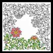 Design Works Crafts Zenbroidery Printed Fabric - Garden Floral Embroidery
