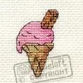 Mouseloft Pink Ice Cream Cross Stitch Kit