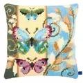 Vervaco Deco Butterflies Cushion Cross Stitch Kit