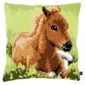 Vervaco Brown Foal Cushion Cross Stitch Kit