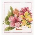 Lanarte Amaryllis Bouquet Floral Cross Stitch Kit
