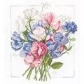 Lanarte Colourful Bouquet Floral Cross Stitch Kit