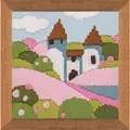 RIOLIS Pink Garden Long Stitch Kit