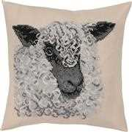 Permin Grey Sheep Cushion Cross Stitch Kit