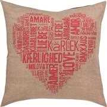 Permin Love Pillow - Pink Cross Stitch Kit