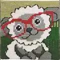 Permin Lamb in Glasses Cross Stitch Kit