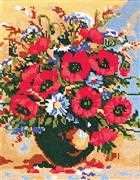 Grafitec Poppies and Cornflowers Floral Tapestry Canvas