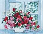 Grafitec Roses by the Window Tapestry Canvas