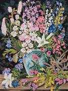 Grafitec Wildflowers II Floral Tapestry Canvas