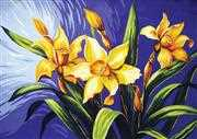 Grafitec Yellow Lillies Floral Tapestry Canvas