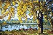 Grafitec Autumn by the Lake Tapestry Canvas