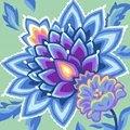 Grafitec Jacobean Blues Floral Tapestry Canvas