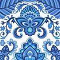 Grafitec China Blue Tapestry Canvas