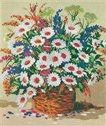 Grafitec Basket of Daisies Tapestry Canvas