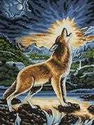 Grafitec Howling Wolf Tapestry Canvas
