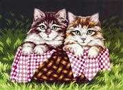 Grafitec Kittens in a Basket Tapestry Canvas