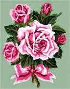 Grafitec Roses Tied with a Bow Tapestry Canvas