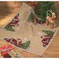 Permin Sleeping Santa Tree Mat Christmas Cross Stitch Kit