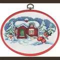 Permin Snowman and Bullfinch Christmas Cross Stitch Kit
