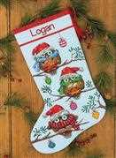 Dimensions Holiday Hooties Stocking Christmas Cross Stitch Kit