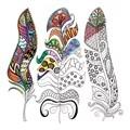 Janlynn Zen Color - Feathers Coloring Canvas Kit Craft Kit