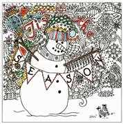 Design Works Crafts Zenbroidery Printed Fabric - Tis the Season Embroidery