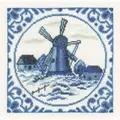 Lanarte Delft Windmill Cross Stitch Kit