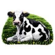 Vervaco Resting Cow Rug Latch Hook Kit