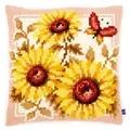 Vervaco Sunflower Cushion Cross Stitch Kit