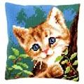 Vervaco Cat on a Tree Cushion Cross Stitch Kit