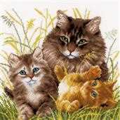 Vervaco Cat Family Cross Stitch Kit