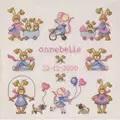 Permin Playtime Girls Sampler Birth Sampler Cross Stitch Kit