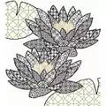 Bothy Threads Blackwork Water Lily Floral Blackwork Kit