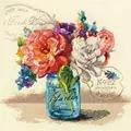 Dimensions Garden Bouquet Floral Cross Stitch Kit