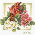 Lanarte Spring Floral Cross Stitch Kit