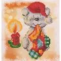 Needleart World Puppy Stocking Diamond Dotz Craft Kit Christmas Craft Kit