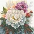 Lanarte White Rose Cross Stitch Kit