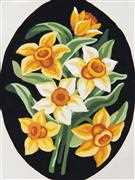 Grafitec Yellow Daffs Floral Tapestry Canvas