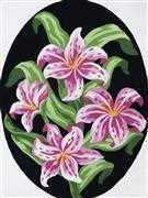 Grafitec Pink Lillies Floral Tapestry Canvas