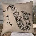 Permin Saxophone Cushion Cross Stitch Kit
