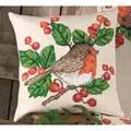 Permin Robins Cushion Christmas Cross Stitch Kit