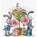 Luca-S Bunny Love Cross Stitch Kit