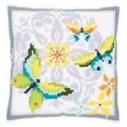 Vervaco Butterflies and Flowers Cushion Cross Stitch Kit