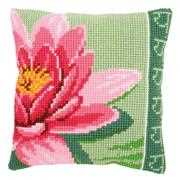 Vervaco Pink Lotus Flower Cushion Floral Cross Stitch Kit