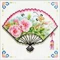 Needleart World Rose Fan No Count Cross Stitch Kit